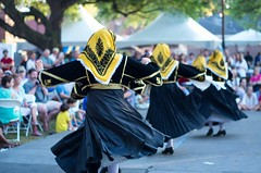 Traditional Greek dancers perform at the 2016 Charleston Greek Festival.