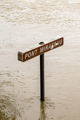Pont Mirabeau (Not-the-average-Joe) Tags: bridge paris france sign mississippi eiffeltower floods overflow crue riverseine pontmirabeau euro2016