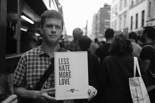 Less hate more love - London's vigil in memory of the victims of the Orlando gay nightclub terror attack..