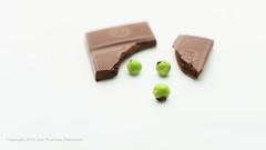 Surprise! (Ana Penelope) Tags: chocolate peas