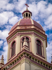 Bangkok Church Tower (Laith Stevens Photography) Tags: bangkok church architecture travel olympus omd em1 45mm f18 asia clouds detail old up ngc awesome all flickr
