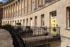 Yellow door | Royal Crescent | Bath-19 (Paul Dykes) Tags: bath somerset uk england georgian johnwoodtheyounger horn column 18thcentury eighteenthcentury gradeilistedbuilding yellow door