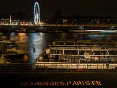 LES BERGES.PARIS.FR (olipennell) Tags: flus frankreich granderouedesparis nacht paris riesenrad seine france