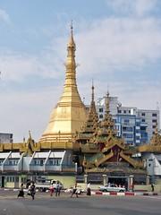 Sule Paya in Yangon (Sasha India) Tags: myanmar yangon journey temple                                    tour tempel