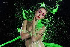 Green splash (maikel_nai) Tags: girl model nude naked topless paintsplash colorsplash paintthrow studio blackbackground n4i n4ies canon5d photoshoot lowkey redlips redmakeup redeyeshadows saragonzalez makeup cristinaarmenta20164flashescristinaarmentacristycolorsplashlanzamientoagualanzamientopinturalowkeymaquillajecolorespapelaluminiophotoshootpiscinasarastudiotanganegrotoplessventanaswatersplashjerezdelafronteracdizspain