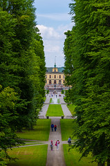 Window to Drottningen (paulius.malinovskis) Tags: nikon summer sweden scandinavia drottningholm beautiful queen stockholm palace royal garden tree rows perspective