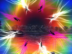Golden Touch Musical Theater 9/17/16 (Teal Freenote) Tags: tealfreenote inworldz goldentouchtheater virtualart virtualartist virtualworld performanceart