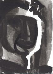 portrait Tusche auf Btten (JENS01) Tags: zeichnung kohle papier bleistift drawing sketching painting malerei skizze sketchbook art kunst graphite pencildrawing paperwork urban doodle l oil tusche portrait
