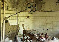 Operating theatre (Dave and Jodi Piddington) Tags: chernobyl ukraine holiday decay abandonedbuildings death history nucleardisaster accident travel dark tourism darktourism photography architecture nuclear disasters adventure kiev blackandwhite
