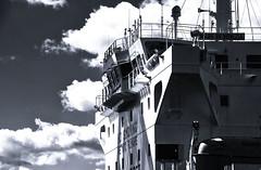 Bridge and Deckhouse (PAJ880) Tags: tanker mare di venezia bride deckhouse bw mono boston harbor ma maritime waterfront