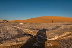 myself and friends (Karl-Heinz Bitter) Tags: weisewste gypten whitedesert sand desert dunes felsen people afrika africa egypt selfie shadow sky himmel bluesky