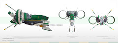 Parakeet | ECM Cruiser > Them angles (Brixnspace) Tags: shiptember ship parakeet green spaceship space spacescene cruiser battlecruiser minifig figsized scramble