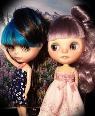Blythe-a-Day May#10: Bright Colors: Georgie & Lyra