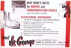 "Golden Age of Port of New York - ""New in town, Sailor?"" (ramalama_22) Tags: street old pool saint st brooklyn square hotel george downtown good indoor days nostalgia transportation clark times sailor saltwater mairine"