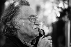 The philosopher (Giulio Magnifico) Tags: portrait italy glasses thought smoke pipe thinking mustache smoker philosopher udine nikond800e nikkormicro105mmafsvrf28