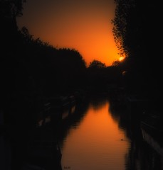 Magical moment in London (Robert Bilinski) Tags: sunset london water canon canal sigma littlevenice polariser ndfilter 2470f28 eos5dm3 robbil robertbilinski
