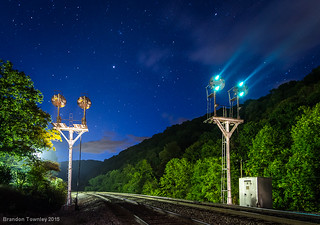 Norfolk and Western Signals in Ingleside, West Virginia