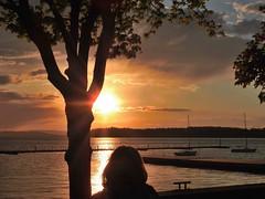 DSCN8995-2 (moon_hunter2014) Tags: sunset sun lake tree clouds boats vermont waterfront lakechamplain