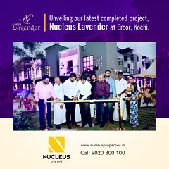 Unveiling our latest completed project,  Nucleus Lavender at Eroor,  Kochi.   Key handed over to customers by Ernakulam Sub collector Shri. Suhas Shivanna.   Visit us on www.nucleusproperties.in  #Kerala #Kochi #India #Cochin #Architecture #Home #Construc (nucleusproperties) Tags: life city india building home nature beautiful beauty architecture design living construction realestate view apartment interior gorgeous lifestyle style atmosphere kerala villa environment elegant exquisite comfort cochin luxury kochi elegance
