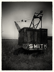 Smith Crane b&w (waynedavey67) Tags: bw abandoned crane neglected smith rusting hdr sonyz2