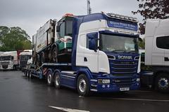 Steve Pope & Son Transport Scania R580 Topline R580 SPT (5asideHero) Tags: pope low steve transport son loader scania spt topline r580