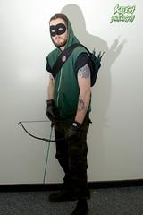 IMG_0662 (Neil Keogh Photography) Tags: black male green comics dc pants mask top jacket gloves hero hood cosplayer dccomics armour merc mercenary greenarrow bowarrow salfordcomiccon2016