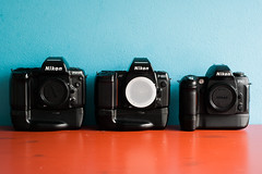 Bad boys; Nikon F90x, F-801s, F80 with grip (leunkstar) Tags: camera lens nikon indoor ishootfilm f90 electronics grip nikonn80 analogphotography n90 f90x nikonn90s nikonf80 nikonf90x cameraporn nikonn90 n90s cameragear f801s filmphotography batterygrip f801 n8008 analogcamera n8008s nikonf801 nikonf801s nikonf80d filmisnotdead nikonf90 nikkor2880 nikonn8008 japancamera iusefilm nikon2880mm nikkor2880mm nikonn8008s mb16 nikonf80s nikon2880 cameraaddict believeinfilm buyfilmnotmegapixels camerastyle filmcomunity staypoorshootfilm wearefilmfolks filmisthefuture nikonmb16