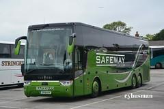 Safeway Batley SF16WAY. (EYBusman) Tags: road park new travel west bus coach yorkshire leeds independent van safeway brand coaches bridlington hool batley astron tx16 triaxle hilderthorpe eybusman sf16way