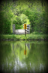IMG_7936 (Mat_B) Tags: bridge reflection nature water sign yellow forest photography spring walk tunnel area pro recreation rrr preserve fel 2016