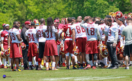 Redskins Head coach Jay Gruden wraps up first day of OTAs with team.