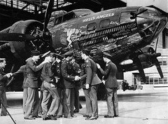 303rd Bombardment Group 358th Bombardment Squadron Crew with B-17 Hells Angels 41-24577, 1940s [564 X 415] #HistoryPorn #history #retro http://ift.tt/27QMce5 (Histolines) Tags: history with group x retro b17 1940s crew angels timeline bombardment 415 squadron hells vinatage 564 303rd historyporn 358th histolines 4124577 httpifttt27qmce5