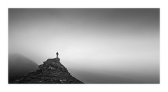 Into the void (Nick green2012) Tags: sea mist alone selfie clifftop