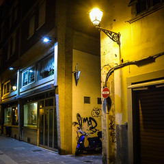 Streets of Pisa 2 (chriswalts) Tags: travel sunset italy streets tower night pisa leaning