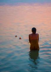 Sun Salutation | Explore (AjayGoel2011) Tags: morning explore devotion varanasi ganges aarti ajaygoelworldcolornikonnikkordecisivemomentexplorecreativecommonsflickriverlandscapetravel
