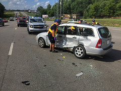 Injury Accident Created From Failure To Yield Situation (cullmantoday) Tags: traffic accident alabama olive second vehicle motor wreck avenue collision cullman
