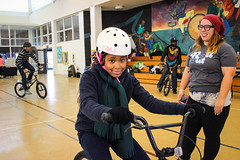 IMG_5565edit (Philadelphia Parks and Recreation) Tags: santa family winter holiday kids event giveaway adults westphilly pinkbike district8 pumptrack carouselhouse sharetheride
