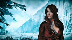 The Red Woman (Scarlett Rhea - Bad Apple) Tags: snow game ice wall fire necklace thrones melisandre