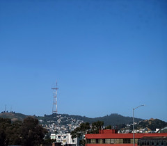 Sutro Tower (sjrankin) Tags: sanfrancisco california tower northerncalifornia edited tvtower sutrotower broadcasttower 12june2016