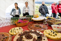 Delicious loocal food from Blidinje area (ViaDinarica) Tags: people food usaid nature landscape locals hiking ceremony runners awards mountainbiking whitetrail undp bosniaandherzegovina wildnature blidinje blidinjelake viadinarica connectingnaturally terradinarica
