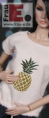 sparkling pineapple (Frau_E.2015) Tags: fraue fashiondollapparel pineapple dollfashion handmade printed