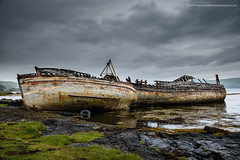 Left High and Dry (Damon Finlay) Tags: storm rain weather islands scotland highlands nikon sailing scottish sound d750 isleofmull tamron mull isle f28 wrecks scottishhighlands 2470 soundofmull highlandsandislands tamron2470f28 nikond750