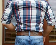 mb34 (armybelt007) Tags: domination crotch bulge beltfetish malebutt leatherbelt leatheranddenim wideleatherbelt armybelt militarybelt leatherandjeans beltinjeans sheriffbelt