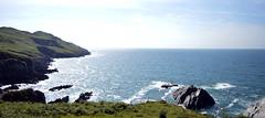 A view over morte point (Sazzaheaton) Tags: blue sea colour green beautiful grass contrast point coast rocks walk horizon calming landmark calm morte sparkling shocking pojnt
