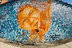 New York Street Art (jomak14) Tags: bianchipista fisheyeview fixedgear goprohero3 newyork stillphoto streetart wheremybiketakesme 2016 wellingcourtmuralproject