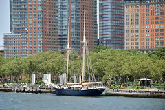 Picture Taken From The Staten Island Ferry Of The Tall Ship Clipper City Docked At Battery Park. Photo Taken Monday June 27, 2016 (ses7) Tags: ferry island view staten