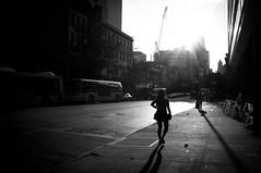 Brooklyn (SinoLaZZeR) Tags: street city shadow urban blackandwhite bw usa newyork brooklyn us blackwhite fuji shadows streetphotography cityscapes streetlife finepix fujifilm schwarzweiss     x100