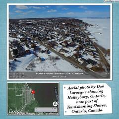 Aerial photo by Dan Larocque showing Haileybury, Ontario, now part of Temiskaming Shores, Ontario, Canada. (Temiskaming Shores, ON, Canada) (Photo Mapo App) Tags: canada on temiskamingshores