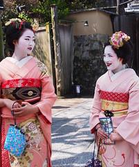 Kyoto 2015 (hunbille) Tags: two japan cherry kyoto shrine blossom district maiko sakura kimono hanami higashiyama ryozen gokoku ryozengokokushrine