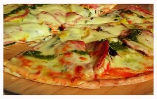 Pizza at John Hill wineyard