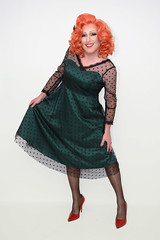Green delight (Gloria Vulcano) Tags: drag crossdressing transvestite dragqueen redhair diva crossdresser crossdress travestie travestiet reddiva